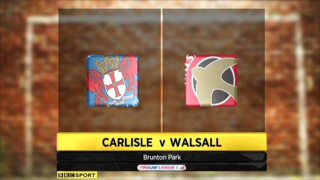 Carlisle 1-3 Walsall