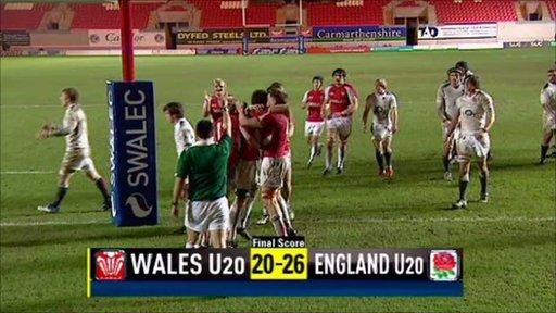 Wales U20 20-26 England U20