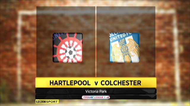 Hartlepool 1-0 Colchester