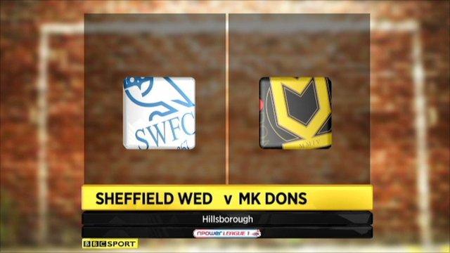 Sheff Wed 2-2 MK Dons