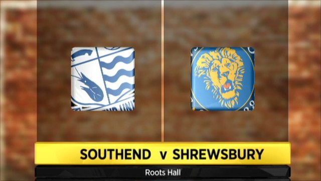 Southend 0-2 Shrewsbury