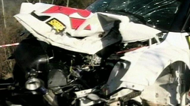 Robert Kubica's car after the crash