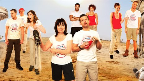 Comic Relief trek team