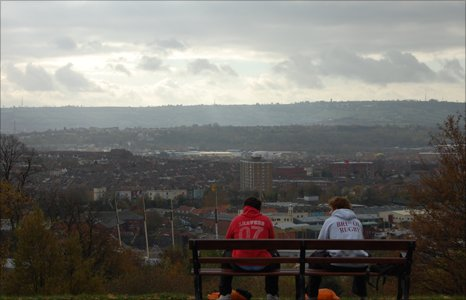 View looking out over Bristol's harbour towards Bedminster