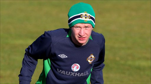 Liam Boyce takes part in Northern Ireland training