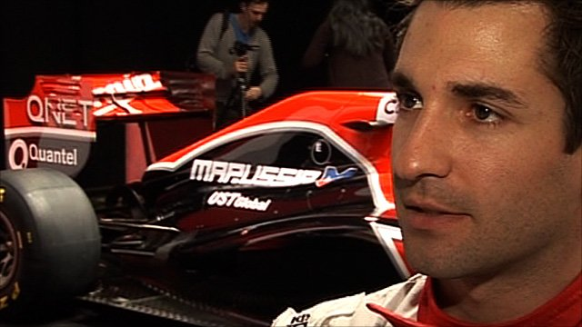 Virgin Racing driver Timo Glock