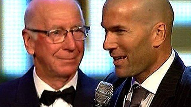 Sir Bobby Charlton and Zinedine Zidane