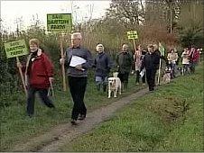 Barton Farm protesters