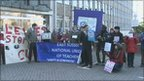 Protest outside East Sussex County Hall