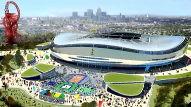 Artist's impression of Spurs' stadium on the Olympic site