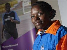 Merlin Diamond, Namibian sprinter.  Photo Matt Grayson