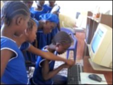 Pupils at Moyamba School of Technology and Computer Studies.