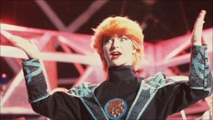 Toyah appearing on Top of the Pops in the 1980s