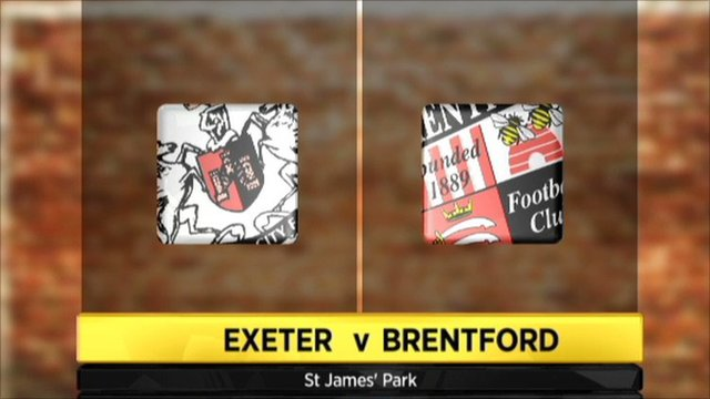 Exeter v Brentford - highlights