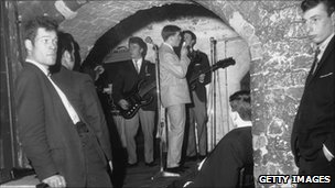Men in The Cavern in 1963