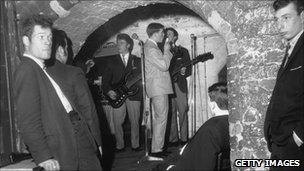 Men in The Cavern in 1963