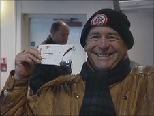 Crawley Town fan Ron Parsons