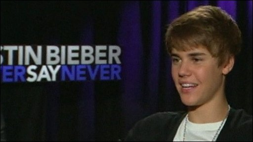 Justin Bieber talking about his movie Never Say Never