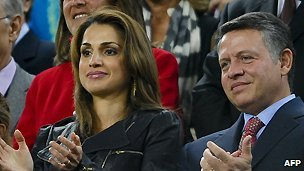 Queen Rania and King Abdullah II of Jordan - 13 November 2010