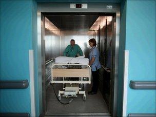 Hospital lift, Getty