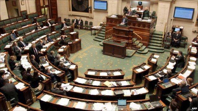 The Belgian parliament, December 2010