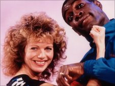 Lizzie Webb with Frank Bruno