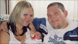 Terri-Ann Barnett and Thomas Matts with their son Morgan