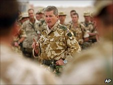 Tim Collins speaks to his troops in Iraq, 2003