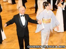 IAEA Director General Yukiya Amano and his wife