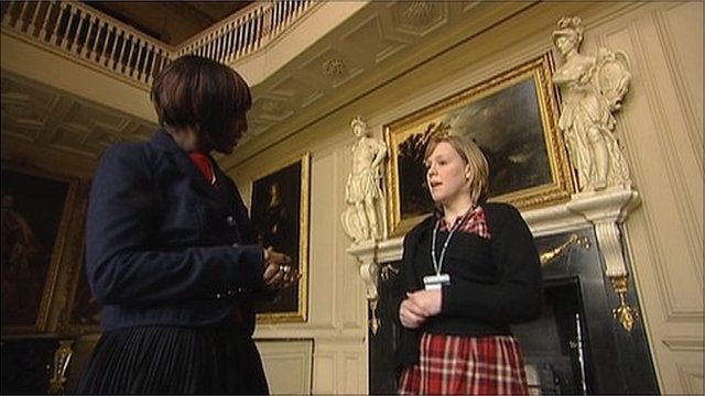 Reporter Brenda Emmanus with Camilla Churchill of Ham House