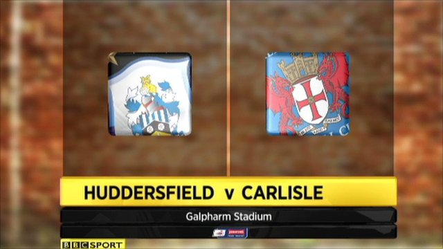 Highlights - Huddersfield 3-0 Carlisle (3-4 agg)
