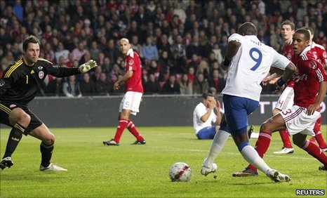 Darren Bent equalises for England