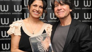 Sita Brahmachari and Anthony Browne. Picture courtesy Waterstones