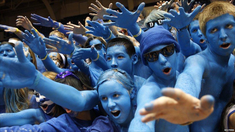 Duke University basketball fans