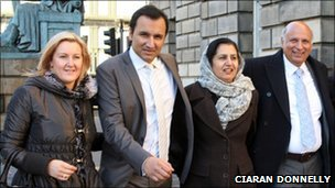 Athif Sarwar with his wife Michelle, mother, and father, Mohammed