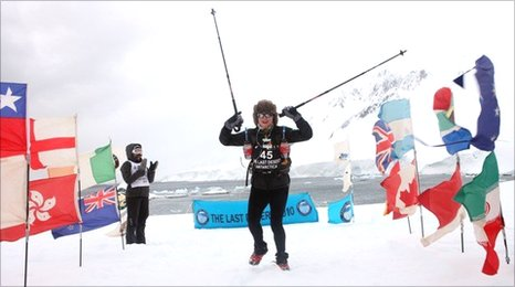 Lucy Rivers-Bulkeley finishes her final challenge in Antarctica