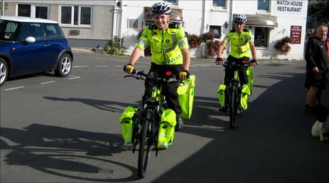The Cycle Response is useful in large crowds are expected as that can hinder a land ambulance in getting to a casualty