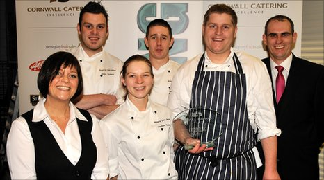 The team from the Valley Restaurant at the Rose-in-Vale Hotel