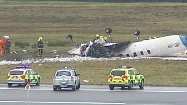 The plane wreckage