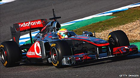 Lewis Hamilton driving for McLaren in Jerez