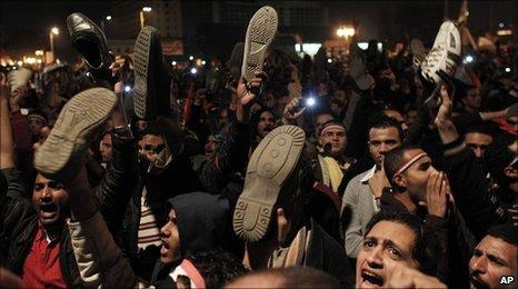 Egypt crisis premature celebrations on mubarak speech