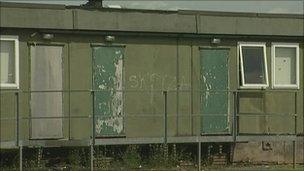 Temporary school building in Sandwell