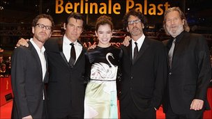 Ethan Coen, Josh Brolin, Hailee Steinfeld, Joel Coen and Jeff Bridges