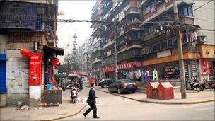 Wuhan street scene