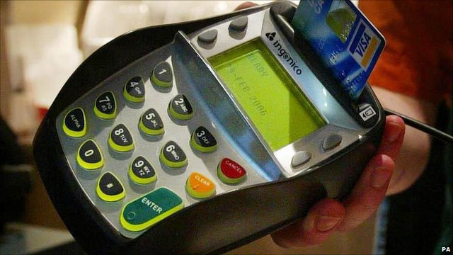 A chip and pin card machine
