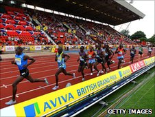 Runners at Gateshead Stadium