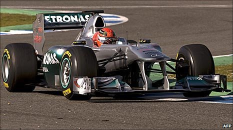 Michael Schumacher's Mercedes in Jerez