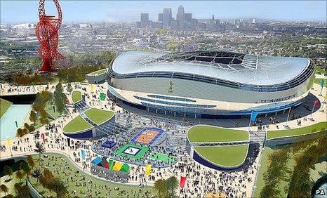 Tottenham's proposed Olympic stadium