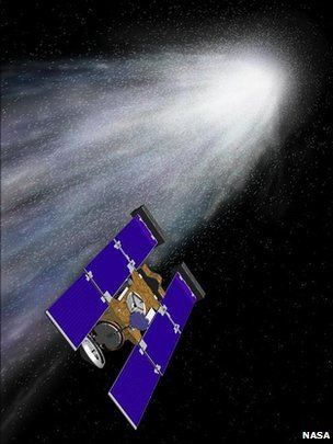 Artist&#039;s rendition of Stardust-NExT (Nasa)