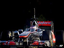 Jenson Button in the new McLaren
